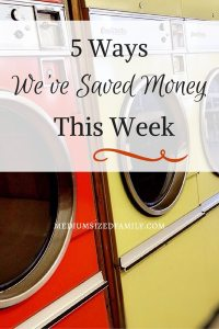 5 Ways We've Saved Money This Week: This blogger has a whole series. Every Friday she posts 5 new ways that her family saved money that week.