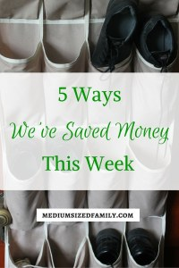 5 Ways We've Saved Money This Week: An entire series full of money saving tips to use in your home.