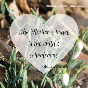 The Mother's heart is the child's schoolroom. An open letter to Moms.