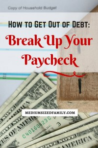 How to Get Out of Debt- Break Up Your Paycheck. Humans are lazy! Use that to your advantage, and you'll soon be paying off debt more quickly.