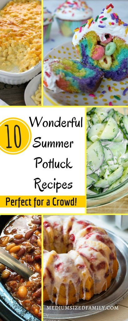 Summer is the perfect time for picnics!  Keep these potluck recipes for a crowd on hand so you can bring the most delicious recipe.