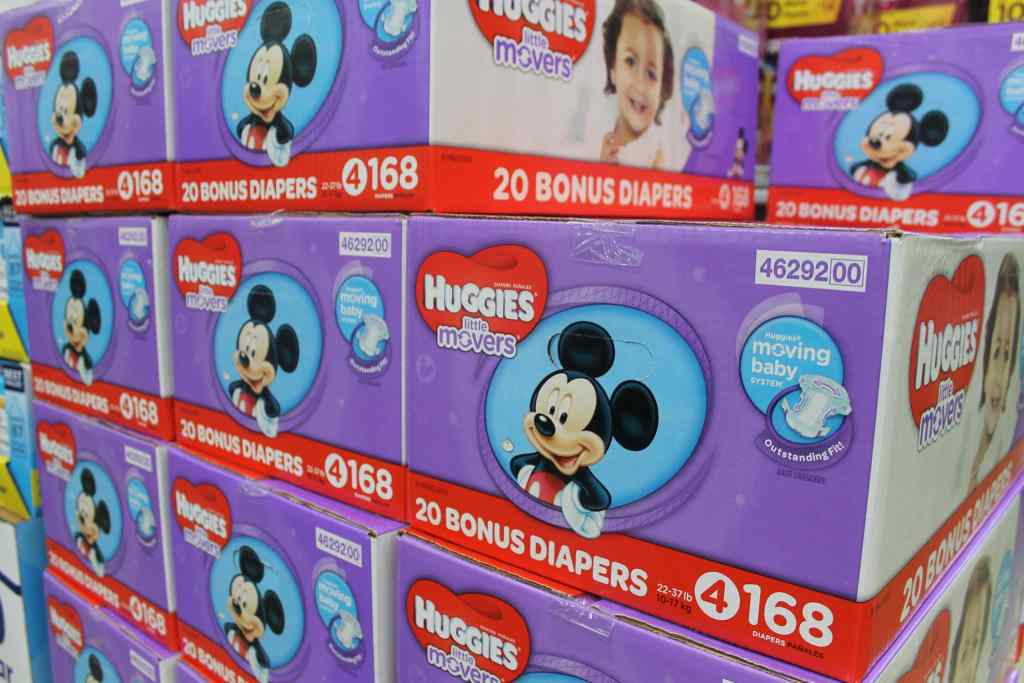 Huggies Little Movers diapers at Sam's Club