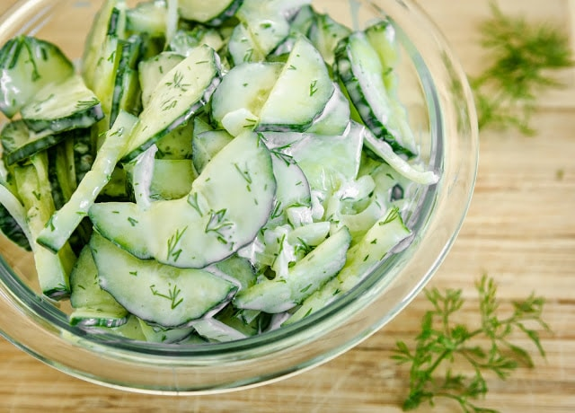 Cucumber and Dill Summer Salad. Find this and more great summer recipes here.