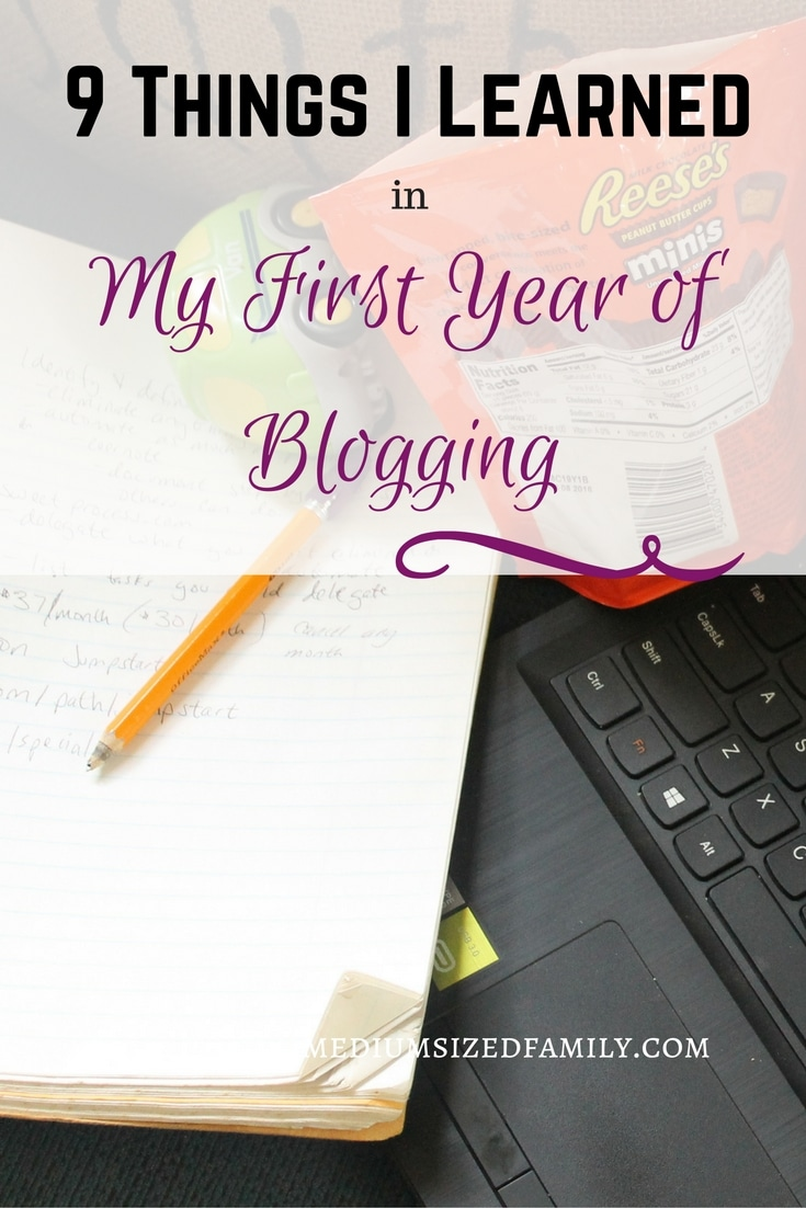 9 Things I Learned in My First Year of Blogging. I'm celebrating my one year blogiversary by reflecting over some important lessons I learned in my first year as a blogger.