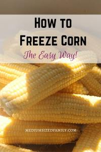 How to Freeze Corn the Easy Way: Learn simple tips for freezing corn. Great for when you find a deal or have a bumper crop of corn!