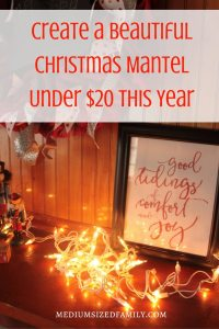 Create a Beautiful Christmas Mantel Under $20 This Year Looking for ideas to spruce up the mantel this holiday season? Try something new that still fits in your budget.