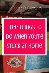 Free Things to Do When You're Stuck at Home. If you're bored at home, here's a list of things you can do for free. Don't forget to save the money you didn't spend this weekend!