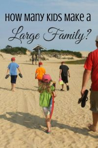 How many kids make a large family? Ever wondered about the large family definition? Learn what it takes to be considered a large family.