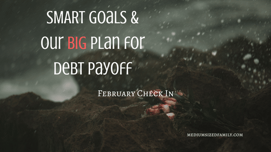 S.M.A.R.T. Goals and Debt Payoff – February Check In