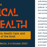 "CfP ""Radical Health: Doing Medicine, Health Care, and Anthropology of the Good"" (Berlin, 2-4 October 2020)"