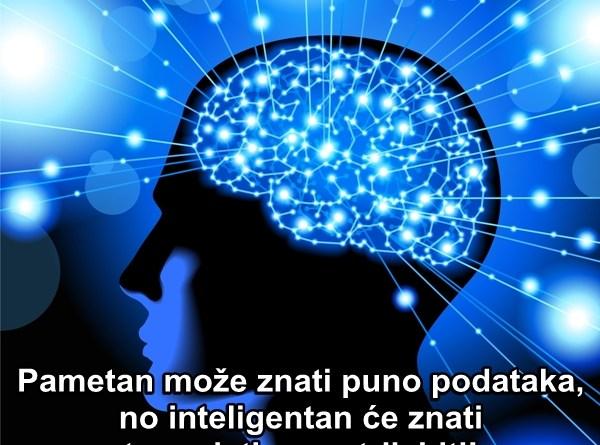Pametan može znati puno podataka, no inteligentan će znati te podatke upotrijebiti!