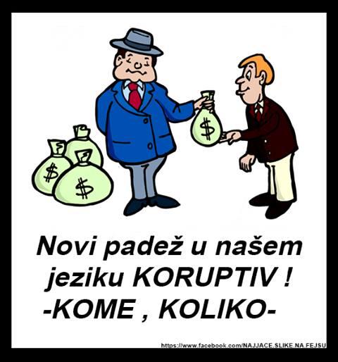 koruptiv - osmi padež