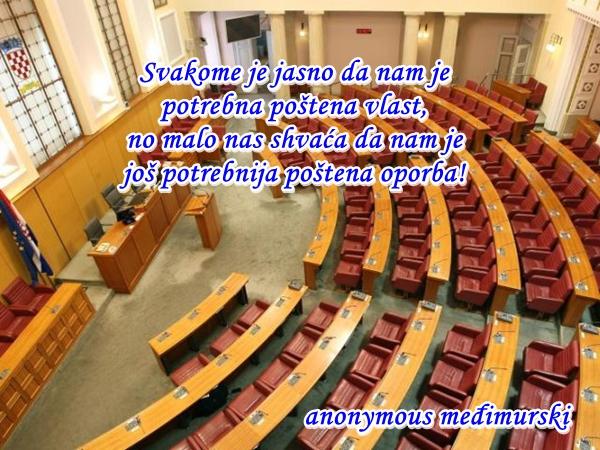 Svakome je jasno da nam je  potrebna poštena vlast, no malo nas shvaća da nam je  još potrebnija poštena oporba!