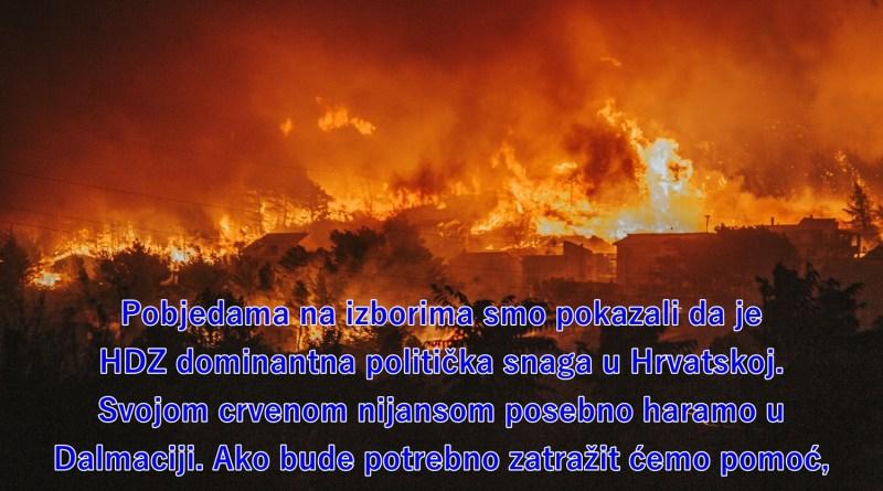 Pobjedama na izborima smo pokazali da je HDZ dominantna politička snaga u Hrvatskoj. Svojom crvenom nijansom posebno haramo u Dalmaciji. Ako bude potrebno zatražit ćemo pomoć, ali za sada najbolje haramo sami.
