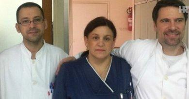 Doktor Marko Kutleša, viša medicinska sestra Anđa Novokmet i medicinski tehničar Tomislav Krčelić