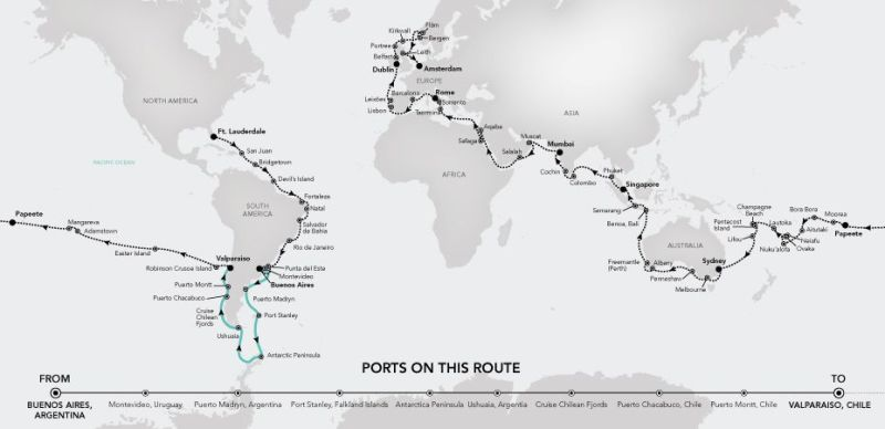 Prvi kruzer koja će posjetiti svih sedam kontinenata