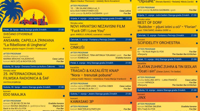 Ljeto u gradu Zrinskih 2018.