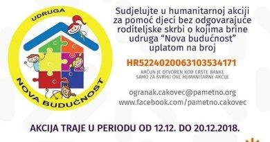 """Akcija """"Topli dom"""" za štićenike doma """"Nova budućnost"""" iz Varaždina"""