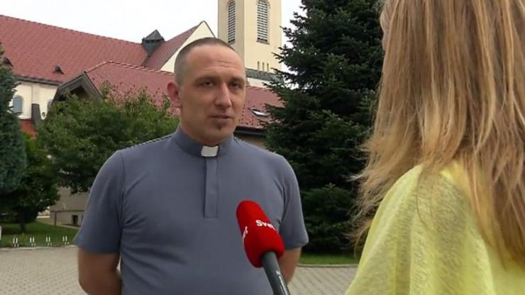 Velečasni Goran Kuhar (screenshot: kanal A)
