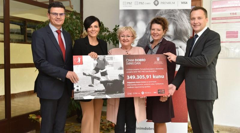 predstavnici PBZ Grupe uručili su Odgojnom domu Ivanec donaciju u iznosu od 349.305,91 kuna