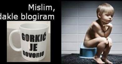 Gorkić je govorio o povraćanju i influencerima