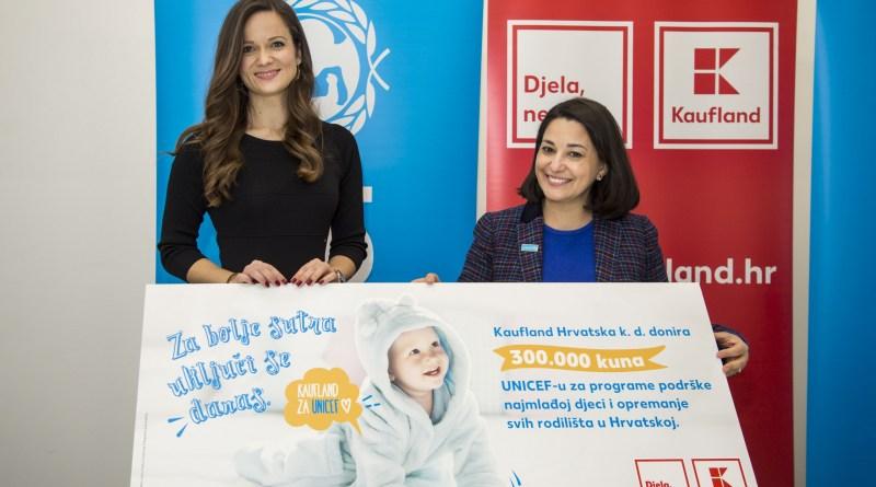 Kaufland donirao UNICEF-u 300.000 kuna za opremu za rodilišta u Čakovcu, Koprivnici i Varaždinu