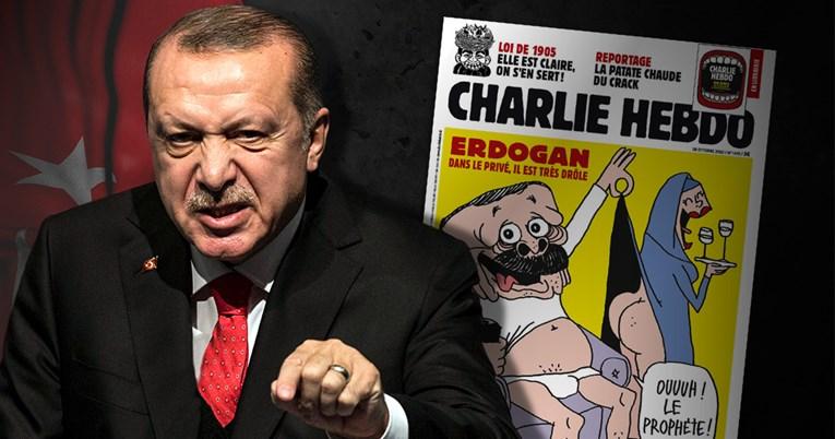 Charlie Hebdo objavio karikaturu Erdogana, Turska bijesni