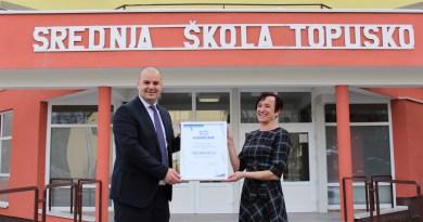 KONČAR obilježio stoljeće poslovanja donacijom od 100.000 kuna Srednjoj školi Topusko