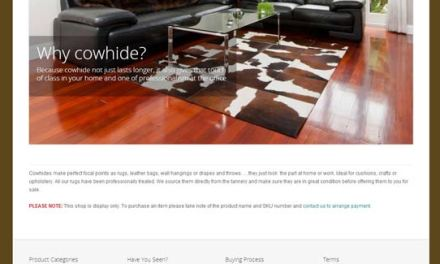 New Cow Hide Website