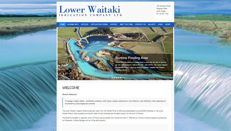 Lower Waitaki Iriigation Company Website Live