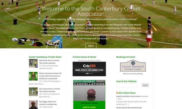 South Canterbury Cricket gets new website