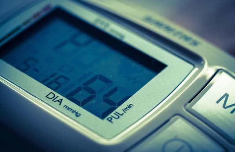 Anzeige bei einem Blutdruckmessgerät