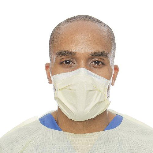 Halyard Health 3 Layer Procedure Mask - 50 Yellow Masks in a Box - Medical Product