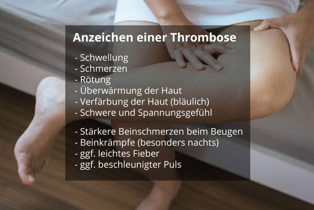 eine thrombose hin