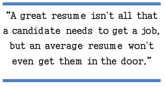 Great resume Isn't All You Need