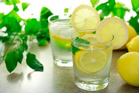 Вода с лимоном для профилактики бронхита