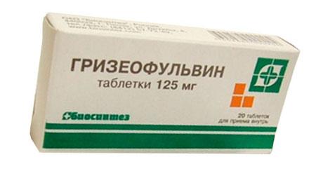 препарат Гризеофульвин от микоза кожи