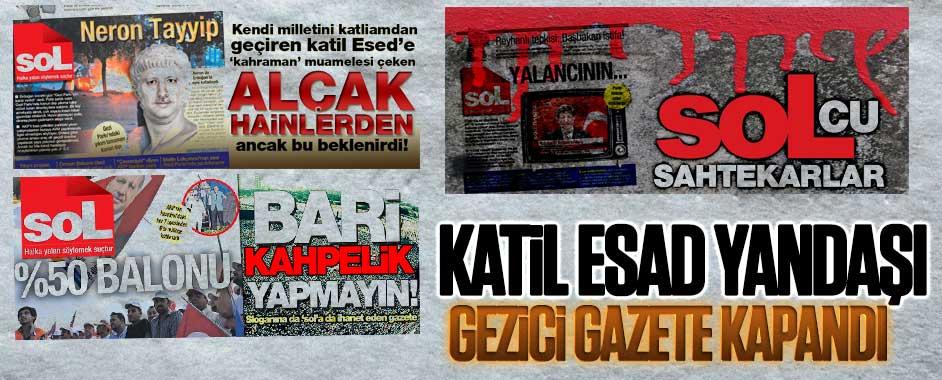 Katil Esad yandaşı Gezici gazete kapandı!
