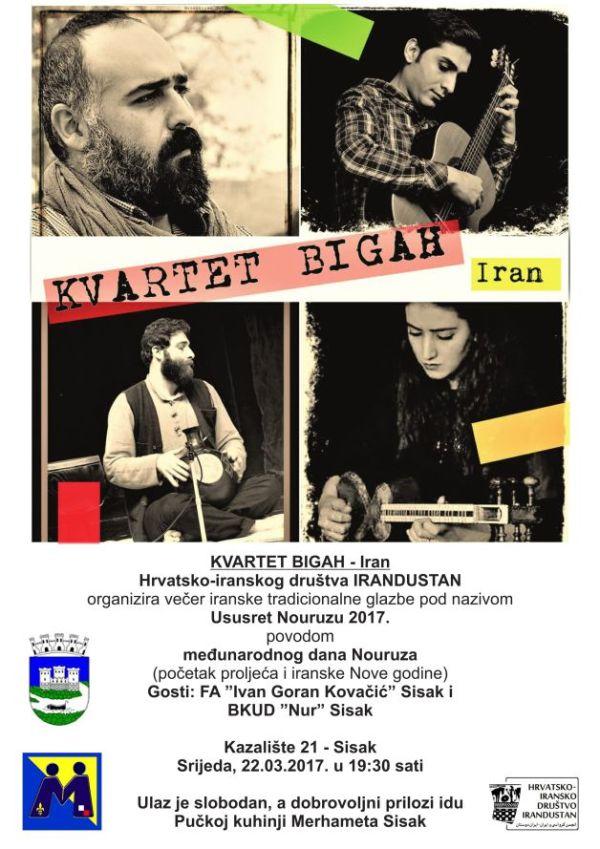 "Poziv na humanitarni koncert iranske tradicionalne glazbe ""U susret Nouruzu 2017."""