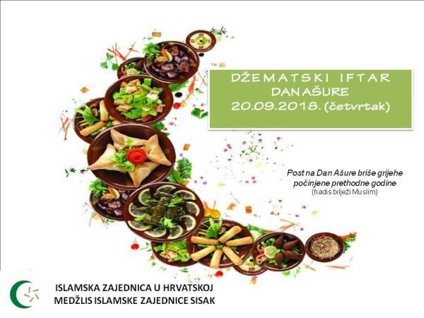 NE PROPUSTITE! POST NA DAN AŠURE I DŽEMATSKI IFTAR (ČETVRTAK, 20.09.2018.)