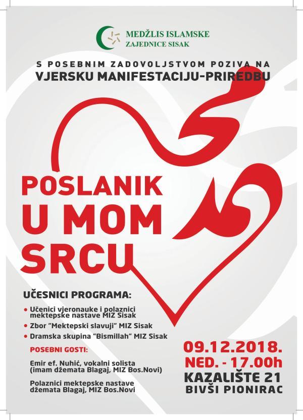 """""""POSLANIK U MOM SRCU"""" (09.12.2018.-Kazalište 21 u 17:00 h)"""