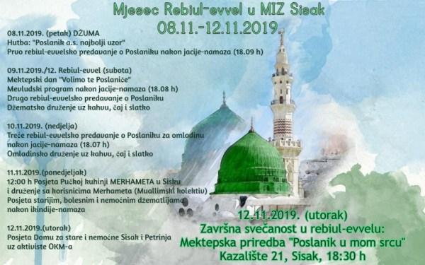 Mjesec Rebiu-evvel u MIZ Sisak (08.11.-12.11.2019.)