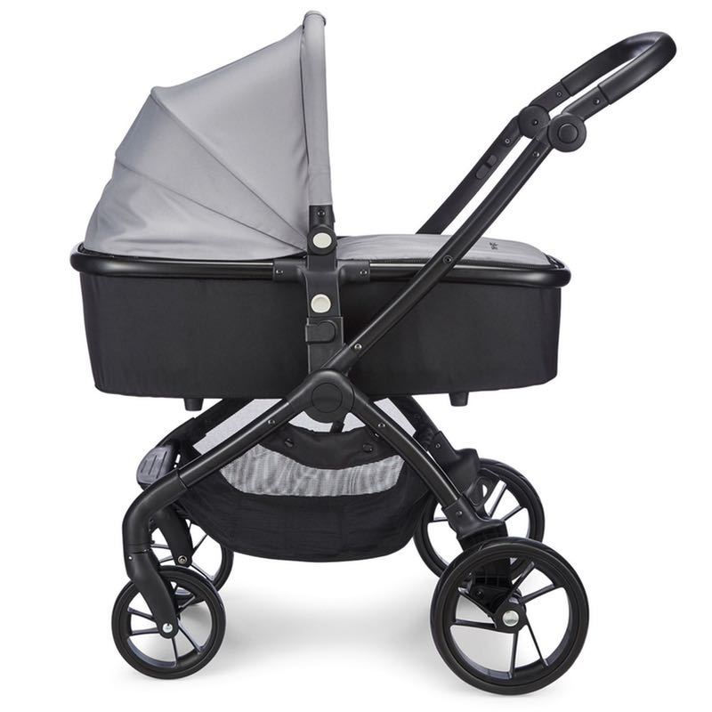 mee go Plumo Ash Grey Carry Cot