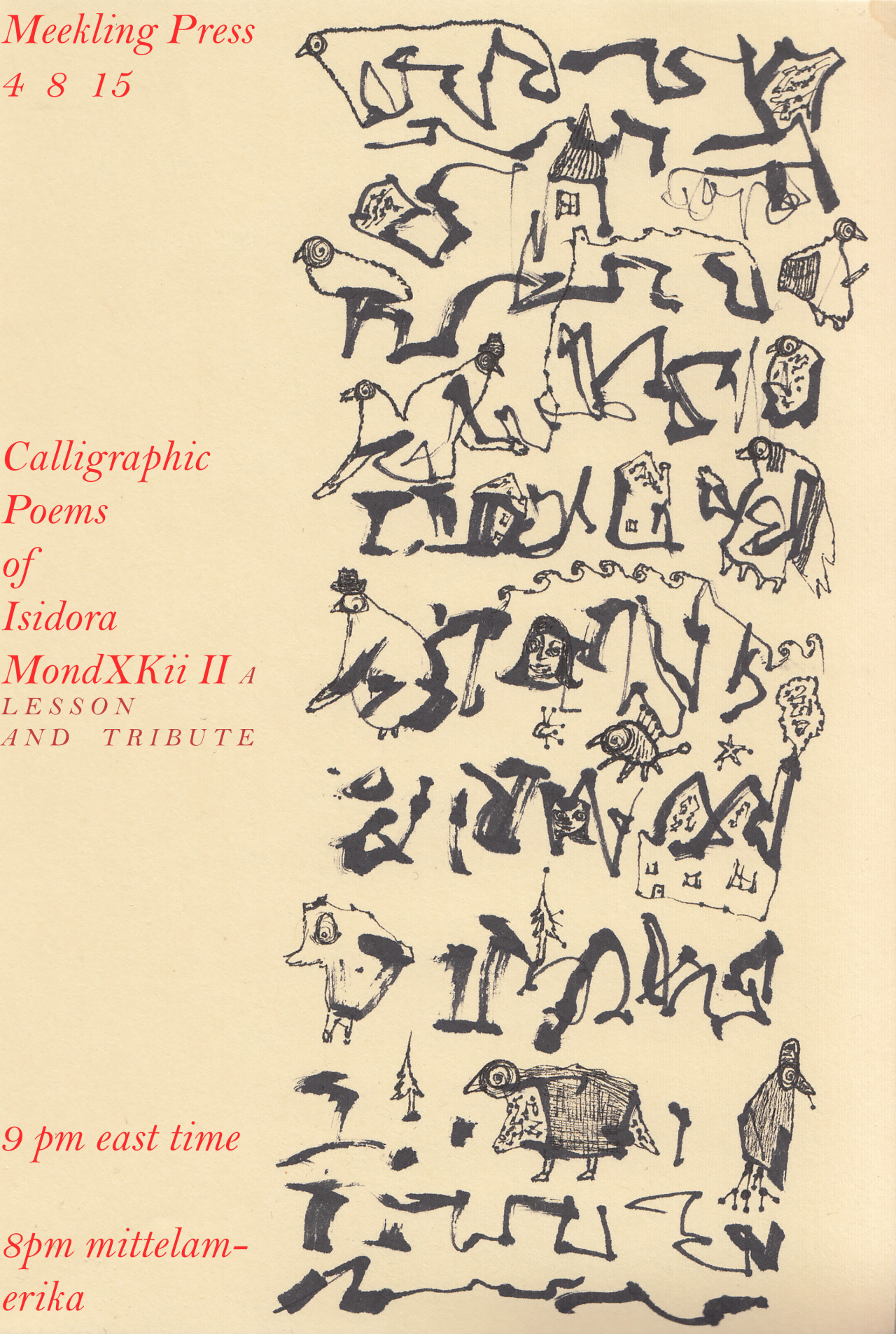 The Calligraphic Poems of Isidora MondXKii II