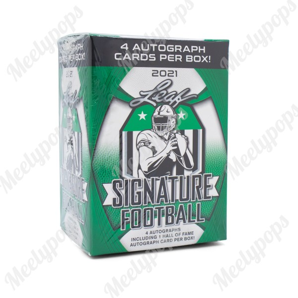 2021 Leaf Signature Footall Blaster Box with HOF Autograph