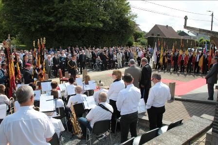 Vital Craeninckx tijdens de Herdenkingsplechtigheid 2014 in Meensel-Kiezegem