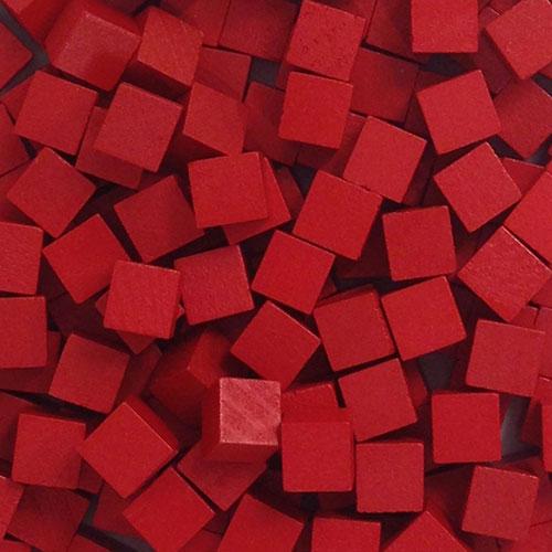 MeepleSource.com   Red Wooden Cubes