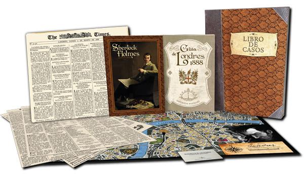 Componentes del juego Sherlock Holmes: detective asesor