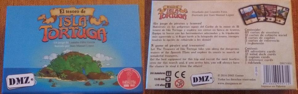 El tesoro de isla Tortuga. Portada y contraportada.