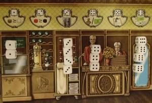Grand Hotel Austria. Tablero común de tiradas y acciones